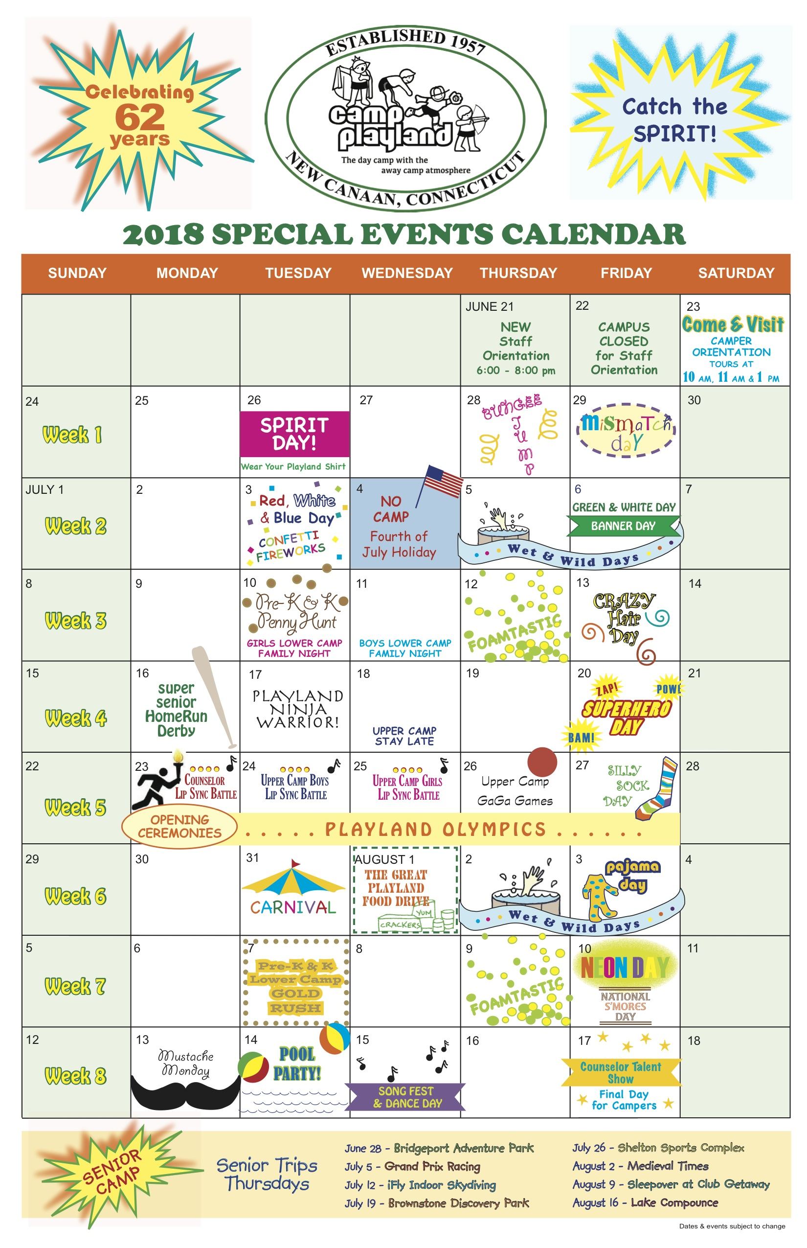 Special Events | Camp Playland New Canaan | Day Camp for Families