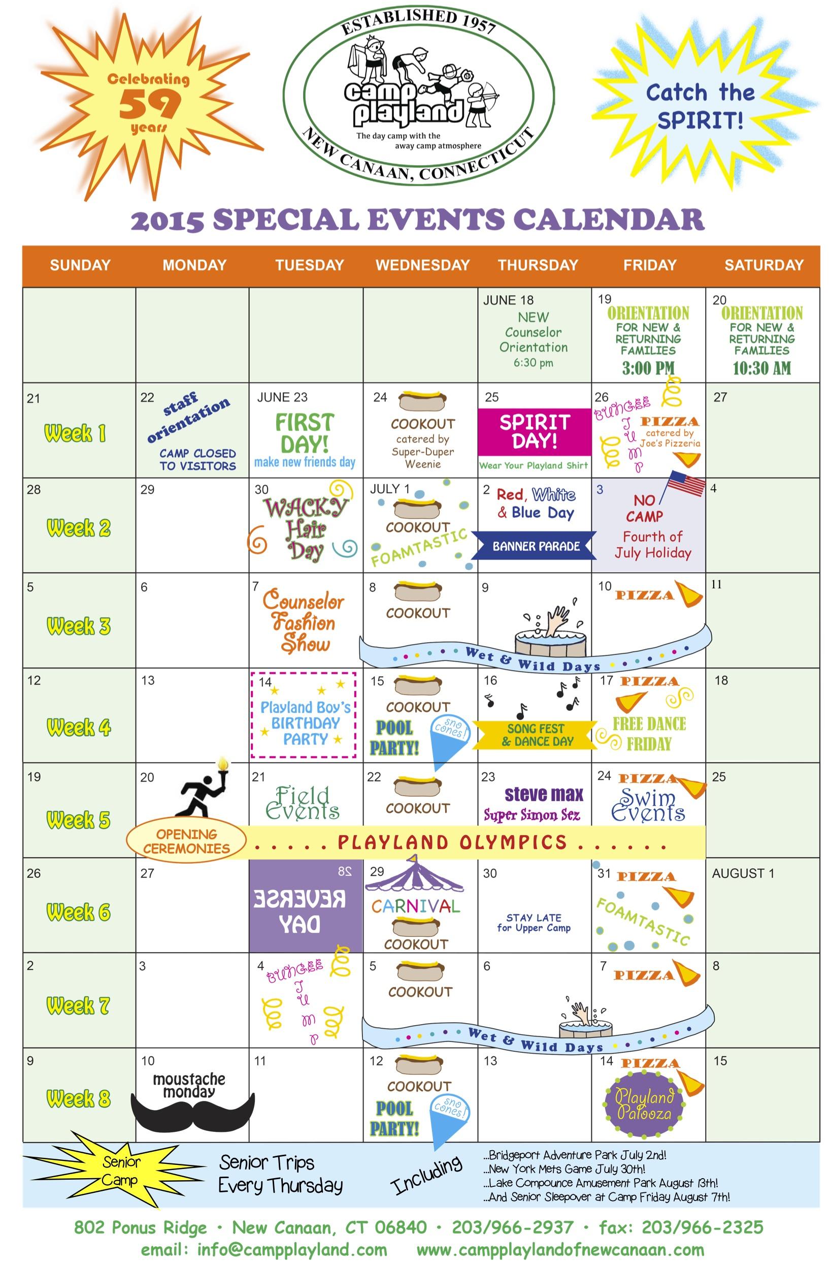 calendar special days events